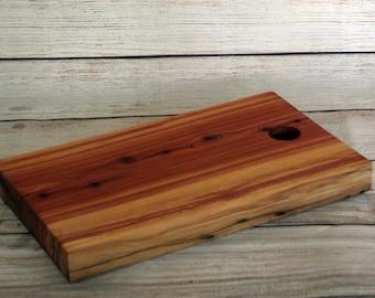 Wood Cutting Board, Serving Tray, Red Cedar