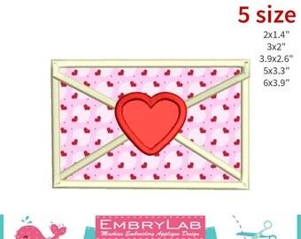 Machine Embroidery Applique Design Valentins Love Mail  (16097)