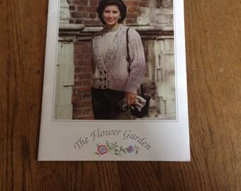 Vintage 1970's  knitting Patterns Wendy The Flower Garden.