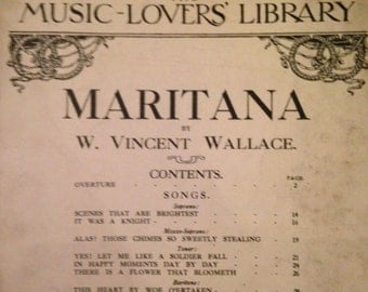 Vintage Music Lovers Library No. 53 Maritana