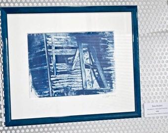 Framed Cyanotype by Xina Scuderi