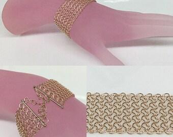 14k Rose Mesh Bracelet