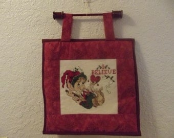 Hand Stitched Wallhanging-Cross-Stitched