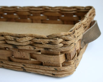 Rectangular basket with handles by Corning to carry Pyrex 233 baking dish - vintage 1980s