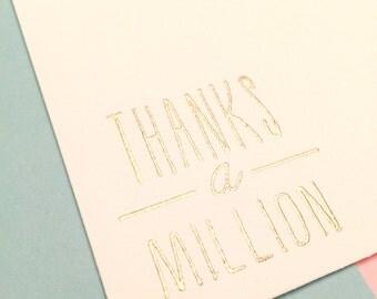 Envelopes   Thanks a Million   Set of 10   Thank You   Embossed Envelopes