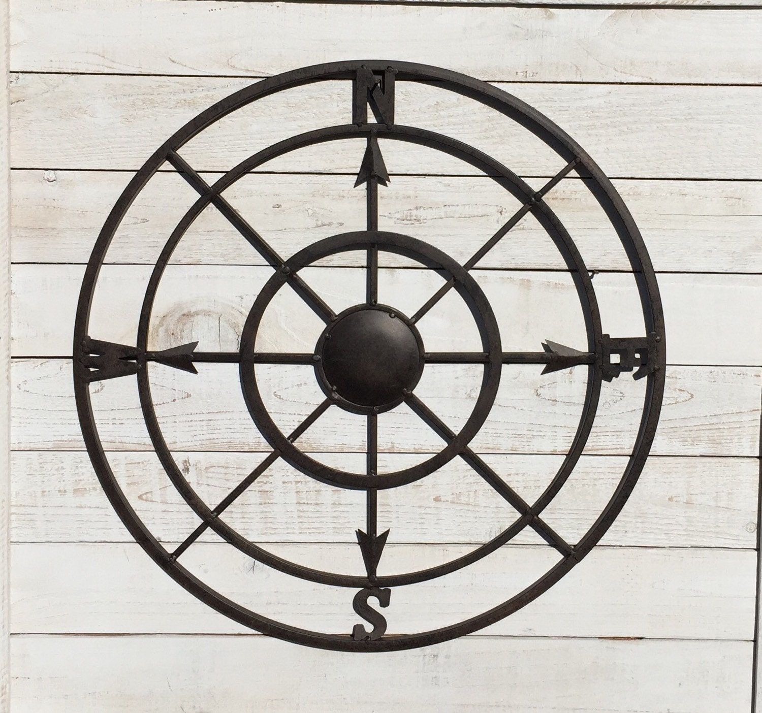 Nautical Compass Wall Decor : Compass metal wall decor nautical by tuscaniron