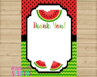 Watermelon Thank You Etsy