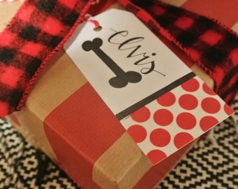 Personalized Pet Calligraphy Christmas/Holiday Gift Tag