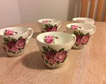 Set of 5 Stanley Fine Bone China Cups