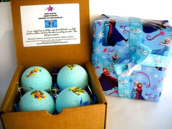 Items Similar To Disney S Frozen Surprise Toy Bath Bomb Gift Set On Etsy