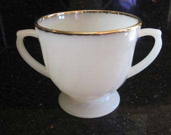 Fire King Golden Anniversary Sugar Bowl - Item #1270