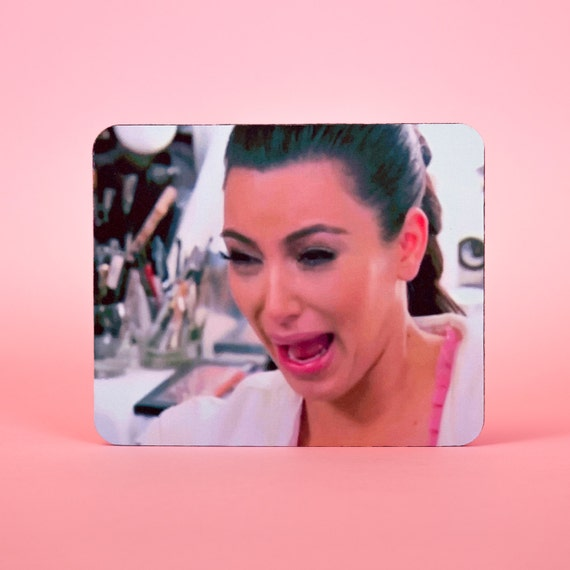 Kim Kardashian ugly crying face mouse pad - mouse mat 3P002