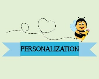 Customization, Personalization, Adding a Name, Changing Text