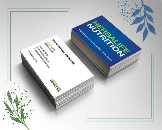 Herbalife Business Card Blue Herbalife Herbalife by Prelinx