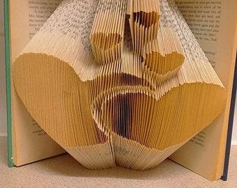 Hearts Book Folding Pattern