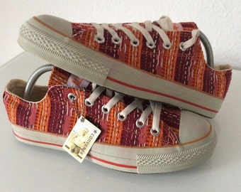 1990s DEADSTOCK CONVERSE Vintage Navajo Woven Chuck's Sneakers Size US 8