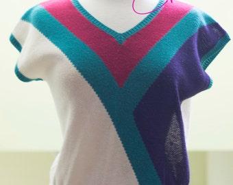 Vintage Short Sleeved Sweater