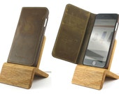 iPhone Dock (Eiche) für iPhones 5/5S/6/6S/Plus/SE/7 mit und ohne Schutzhülle / Lightning Dock