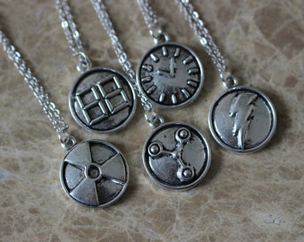 5pcs Back To The Future Necklace Zh4n-s