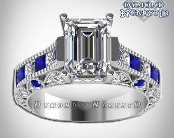 Doctor Who Inspired Tardis Blue Sapphire U0026 Swarovski Diamond Sterling  Silver Or White Gold Deluxe Ring