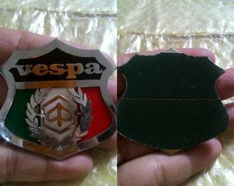 VINTAGE Vespa Placca Badge Plakette Italia Piaggio Logo Freddferry