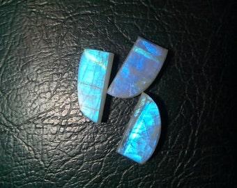 Rainbow Moonstone Fancy Shape Slice's