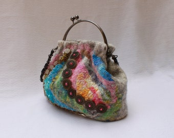Felted Colorful Purse