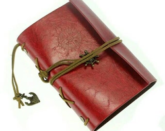 Red Nautical Leather Journal