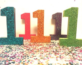 1st Birthday Table Number Centerpieces { Cardboard Letters }