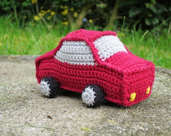 PDF crochet pattern car: in German and English