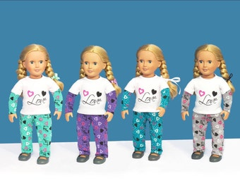 "American Girl or 18"" doll pj's only"