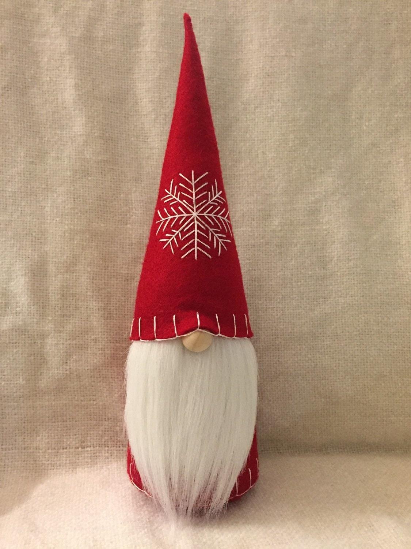 Christmas Gnome Swedish Tomte Nisse Felt Doll Large