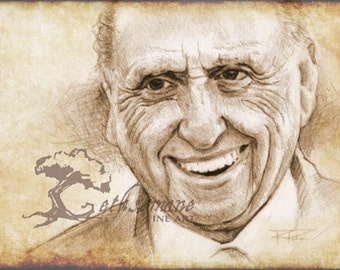 "President Thomas S. Monson ""Teller of Stories"" 8x11 Paper Print LDS Art"