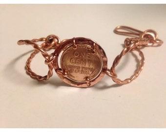Cooper penny bracelet
