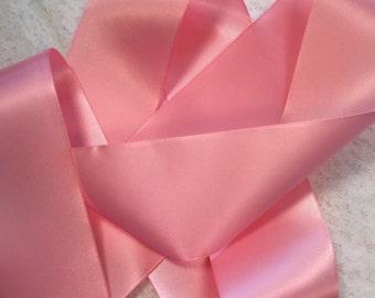 Pink Satin Ribbon/Just Pink Ribbon/Pink Wedding Dress Sash/Pink Bridal Belt/Pink Bridal Dress Sash/Pink Dress Ribbon