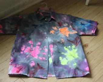 one of a kind collar Tye dye
