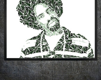 Macdre triangles art print poster perfect on room or office wall