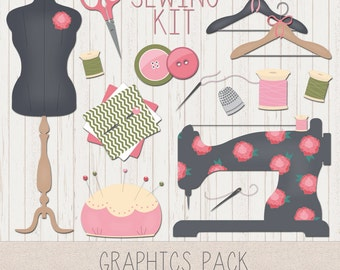 LeeLee Graphics - Clip Art (Sewing Kit)