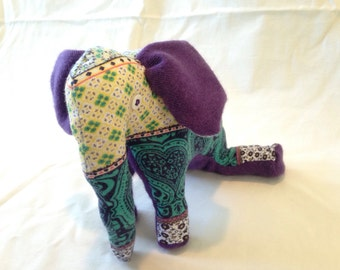 Adorable, Patterned Stuffed Elephant