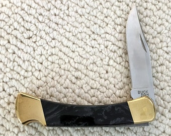 Custom BUCK Folding Hunter Knife Model 110 - Free Shipping!