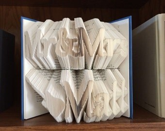 Rock 'n' Roll Wedding Folded Book Art