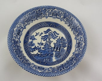 Vintage Blue Willow Cereal or Soup Bowl