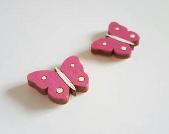 Fairy door accessory miniature butterfly x2 - fairy door extra - pretend play - elf door - pixie