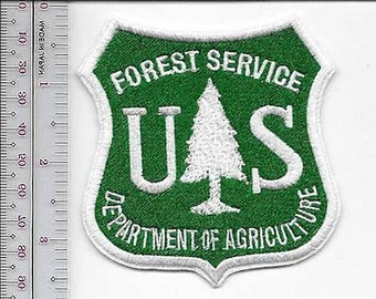 Hot Shot Wildland Fire Crew USFS United States Forest Service White on Green 3.5 inches