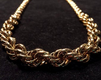 Vintage 1970's Graduated Rope Necklace • Gold-Toned • Kinda Grandma-esque/Kinda Badass...Cool Either Way