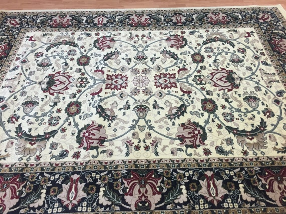 8' x 11' Turkish Kashan Oriental Rug - Hollywood Collection