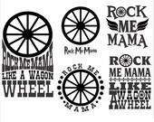 Rock me Moma Monogram Cuttable Svg Designs
