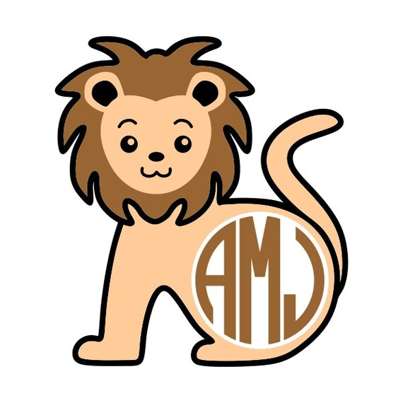Download Lion Designs Monogram Pack SVG DXF EPS use with Silhouette
