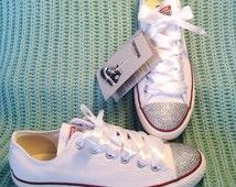 Personalized Converse / wedding converse / bridal converse / prom converse / bling / bespoke converse / customised converse / date converse