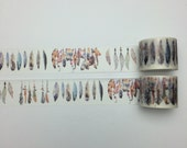 Feather washi tape